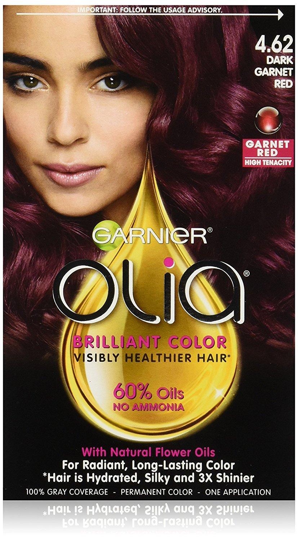 Buy 462 Dark Garnet Red 1 Count Garnier Olia Oil Powered