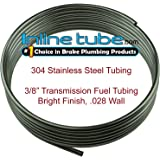"304 Stainless Steel Brake Fuel Transmission Line Tubing 3/8"" OD Coil Roll (L-4-1)"