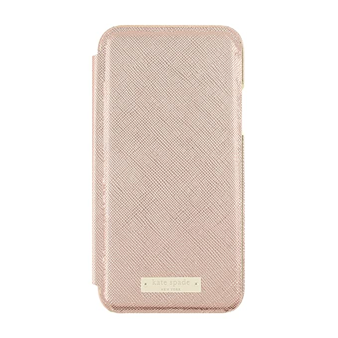 best service 33877 7cd45 Amazon.com: kate spade new york Folio Case for iPhone X - Saffiano ...