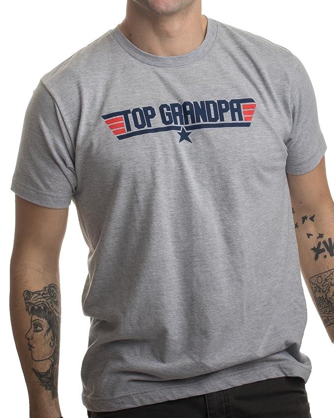 e8e1a7fb Amazon.com: Top Grandpa | Funny 80s Dad Humor Movie Gun 1980s Military Air  Force Men T-Shirt: Clothing