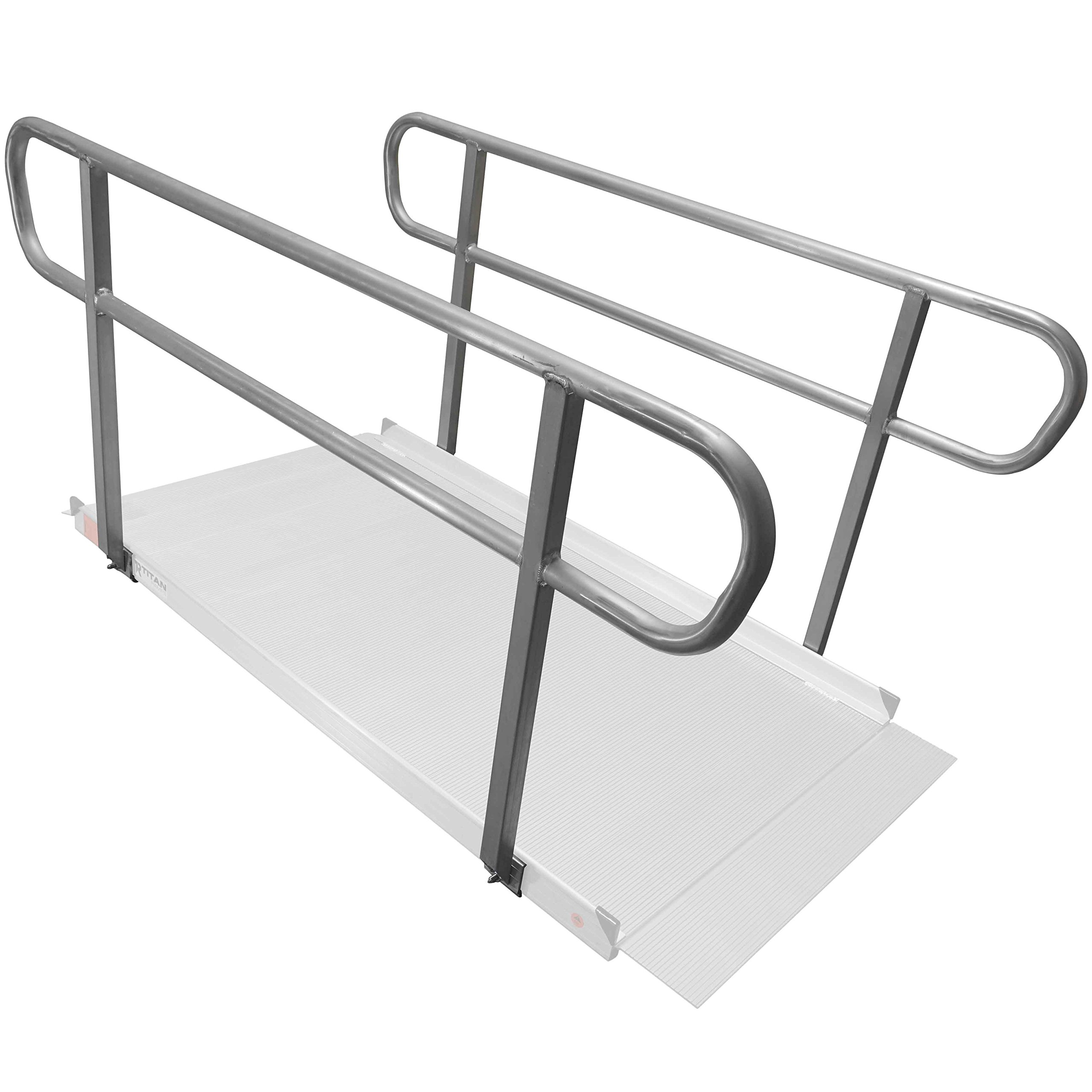 Titan 6' Wheelchair Entry Ramp Handrails Only by Titan Ramps