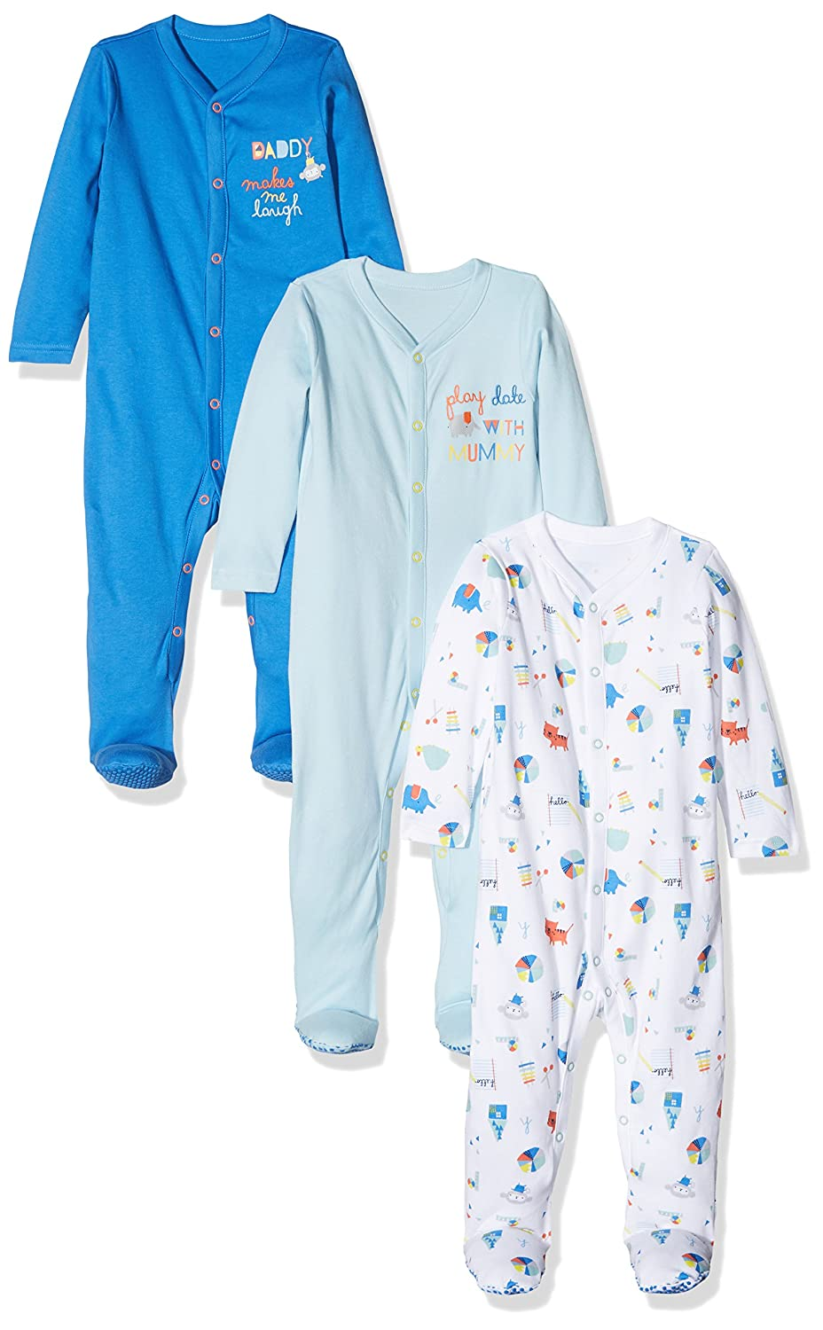Mothercare Baby Boys' Mummy & Daddy Sleepsuit PD341