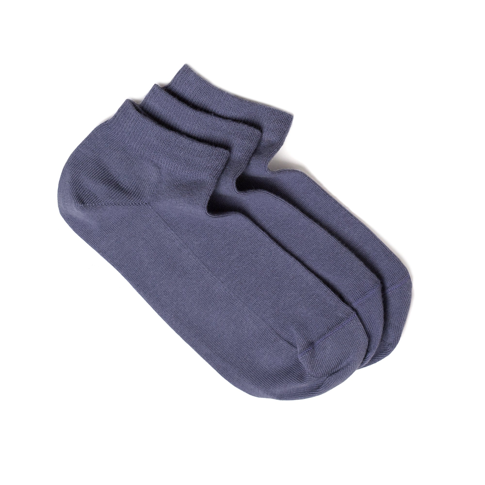 Men's Low Cut Socks, 3 Pairs Pack. Seamless Toe, Fine Combed Cotton, Reinforced Sole