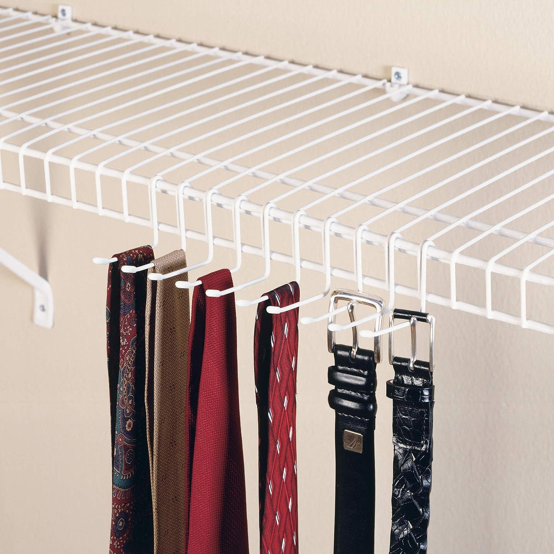 ClosetMaid 71008 Versatile Tie /& Belt Rack White