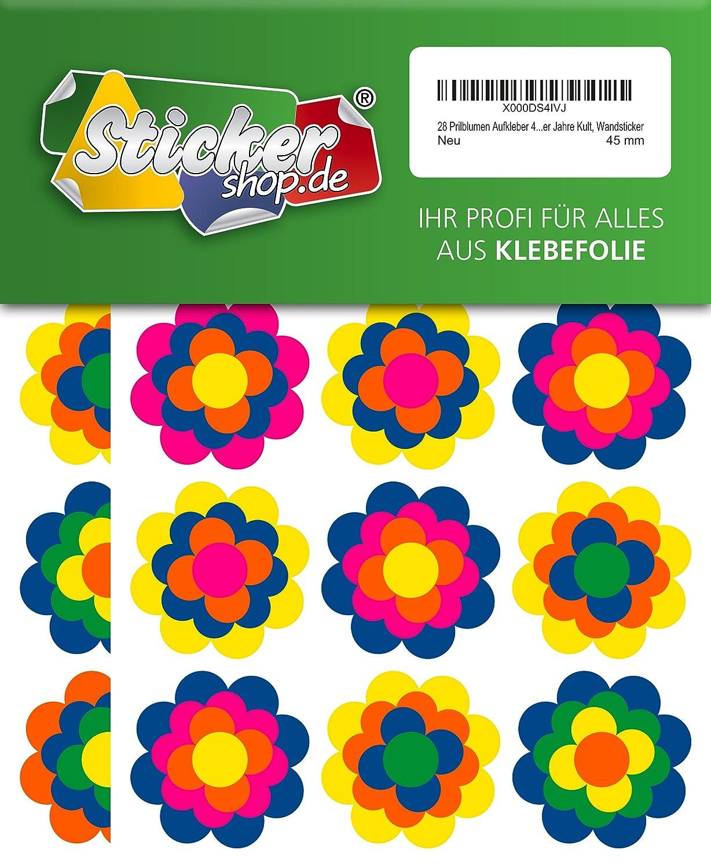 Retro Style 70er Jahre Kult 84 Mini Prilblumen Aufkleber 25 mm Wandsticker