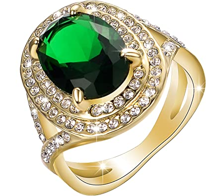 Vintage Style Wide Band Statement Ring for Women Prom Dress Jewelry Cocktail Ring