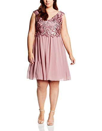 Womens Embroidered Prom Sleeveless Dress Little Mistress Curvy C9fuTHB