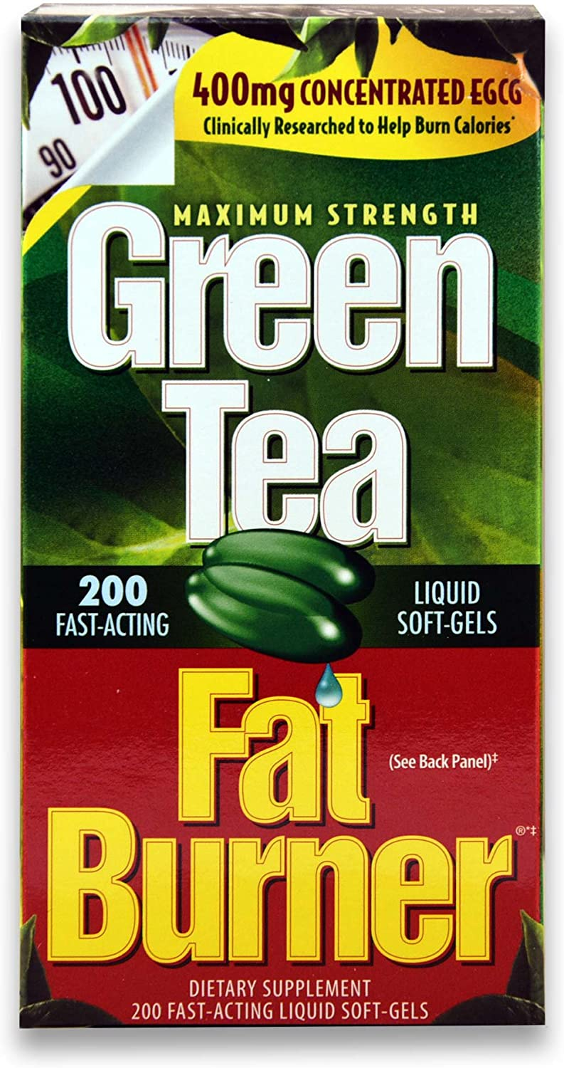 Green Tea Fat Burner Dietary Supplement 200 Soft gels: Health & Personal Care