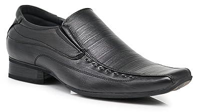 7e2ed881dd13 Enzo Romeo JAS Men's Dress Loafers Elastic Slip on with Plain Fashion Shoes