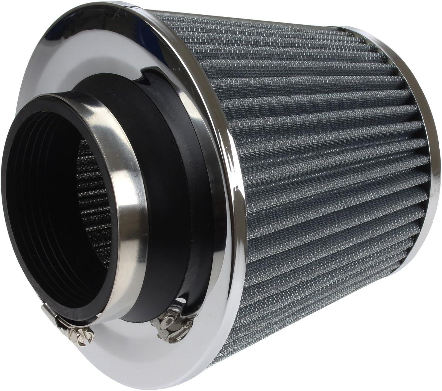 Universal Hochleistungs Auto Luftfilter Induktions Satz Sportwagen Kegel Luftfilter Chrom Ausführung Auto