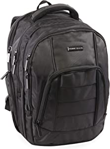 Perry Ellis M200 Business Laptop Backpack, Black, One Size