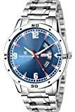 TIMEWEAR Day Date Functioning Blue Dial Chain Watch for Men