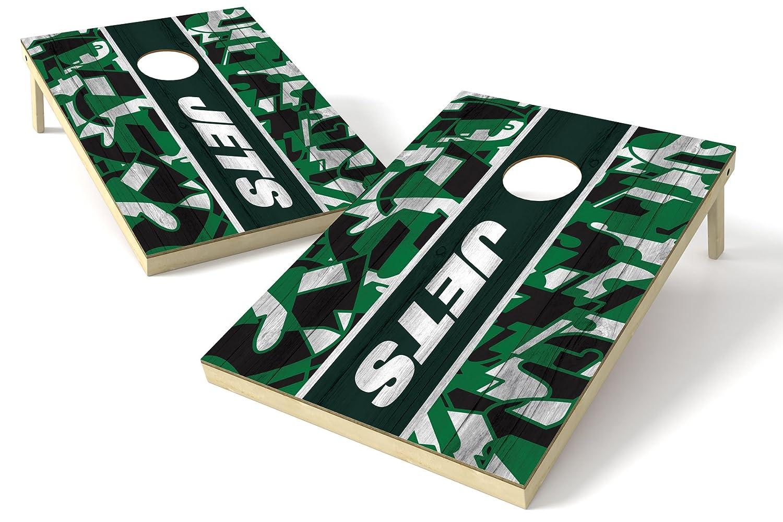 PROLINE 2'x3' NFL New York Jets Cornhole Set - Millennial Stripe Design