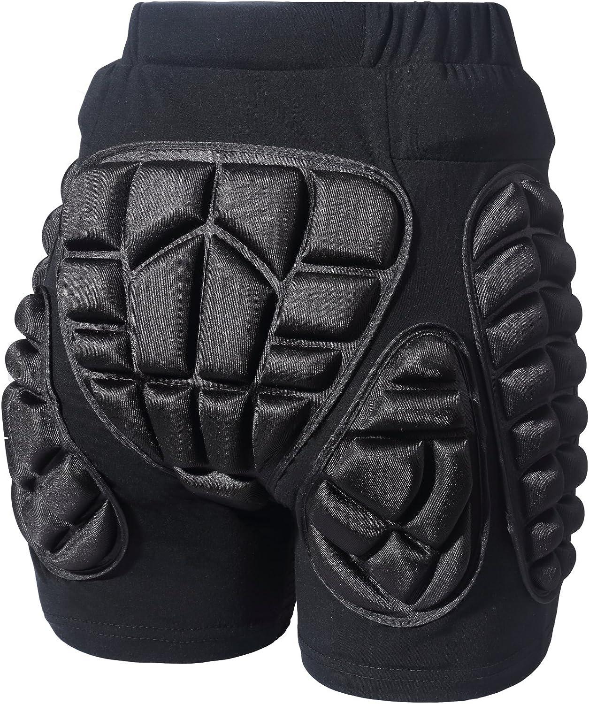 2pcs 3D Protection Hip Butt EVA Paded Short Pant Protective Gear Guard Pad Pink