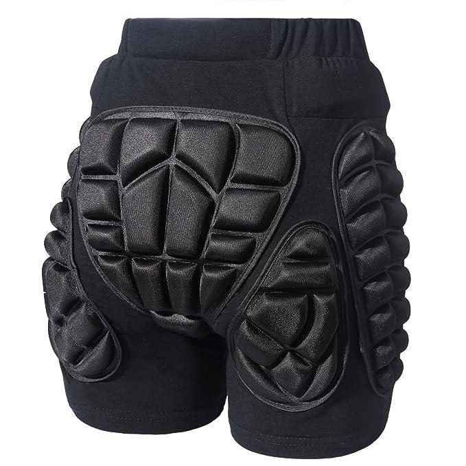 Soared 3D Protection Hip Butt EVA Paded Short Pants Protective Gear Guard Impact Pad Ski Ice Skating Snowboard Black