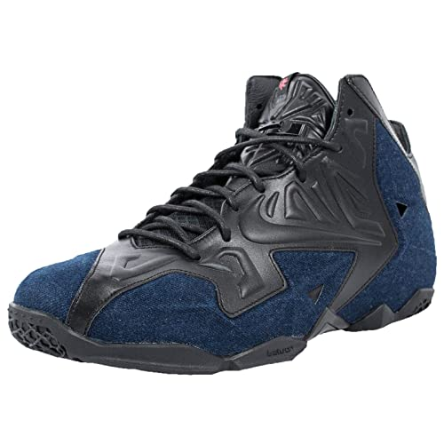 pretty nice dc940 f3614 Nike Men s Lebron XI EXT Denim QS, BLACK BLACK-DENIM, 8.5 M