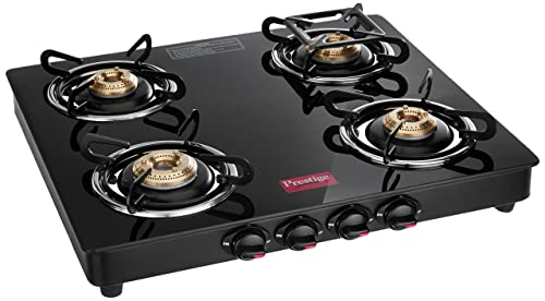 6. Prestige Marvel Glass 4 Burner Gas Stove