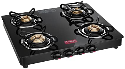 aee8adea14d6e4 Image Unavailable. Image not available for. Colour: Prestige Marvel Glass 4  Burner Gas Stove ...