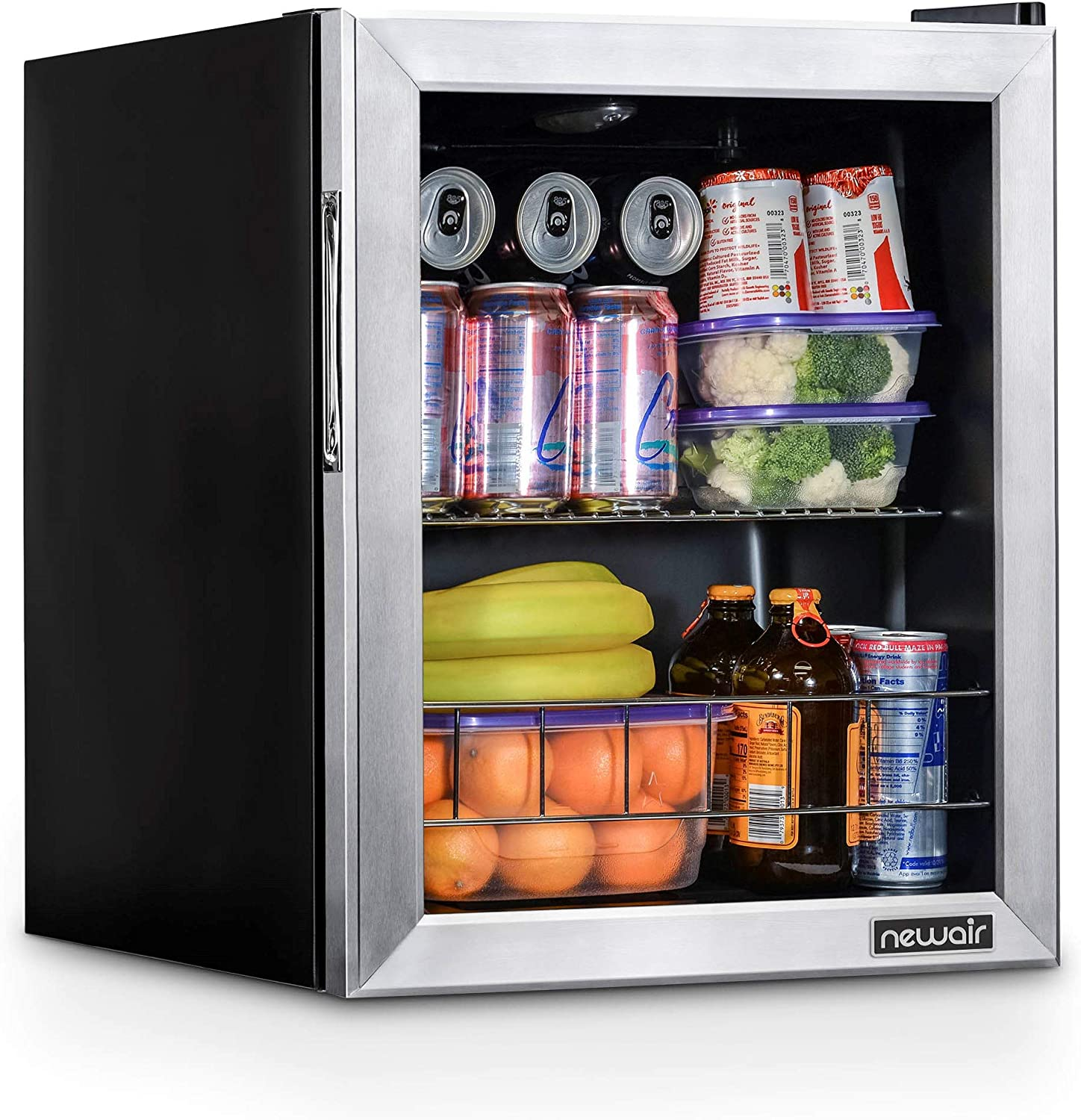 NewAir NBC060SS00 Beverage Cooler and Refrigerator, Holds up to 60 Cans, Perfect for Beer Wine or Soda