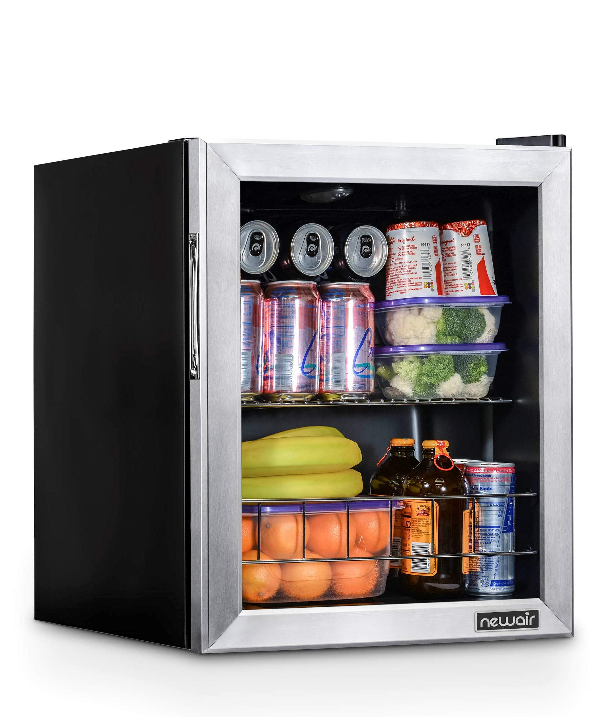 NewAir NBC060SS00 Beverage Cooler and Refrigerator, Holds up to 60 Cans, Perfect for Beer Wine or Soda by NewAir