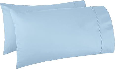 Egyptian Cotton Light Blue Stripe Bed Pillowcases 400 Tc Set of 2 Pillow Cover