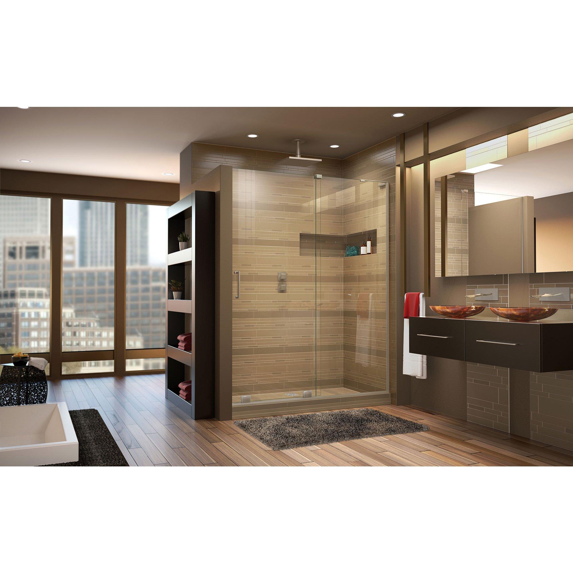 DreamLine Mirage-X 56-60 in. Width, Frameless Sliding Shower Door, 3/8'' Glass, Brushed Nickel Finish by DreamLine (Image #8)