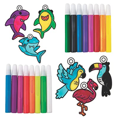 Mega Suncatcher & Paint Boredom Buster Kit - Craft Supplies - 96 Pieces: Health & Personal Care
