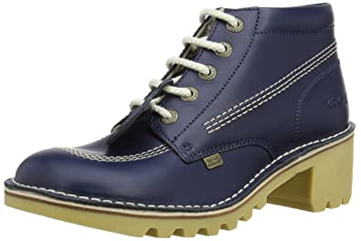 Kickers Womens Kopey Hi Leather AF Boots 1-12962 Dark Blue 3 UK, 36