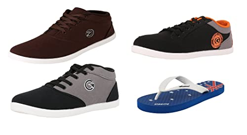 Combo of 3 Casual Shoes \u0026 Lotto Slipper