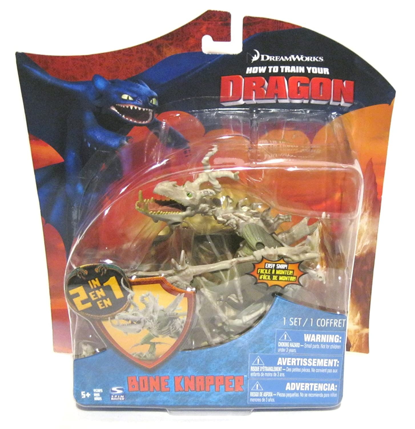 Amazon How To Train Your Dragon Movie Series 3 Deluxe 7 Inch Action Figure Bone Knapper Toys Games