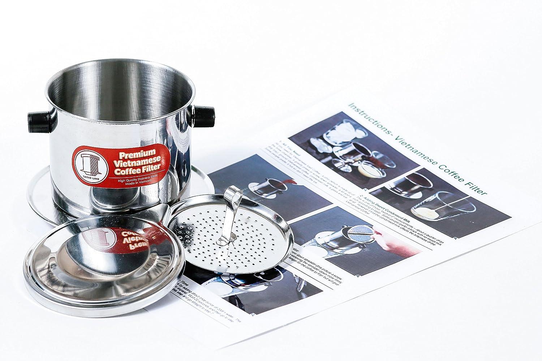 ベトナムコーヒーフィルターセット 別名 ベトナムコーヒーメーカーまたはプレスエキストララージ Small (6 oz) SYNCHKG087180 Small (6 oz)  B01AK11RQO