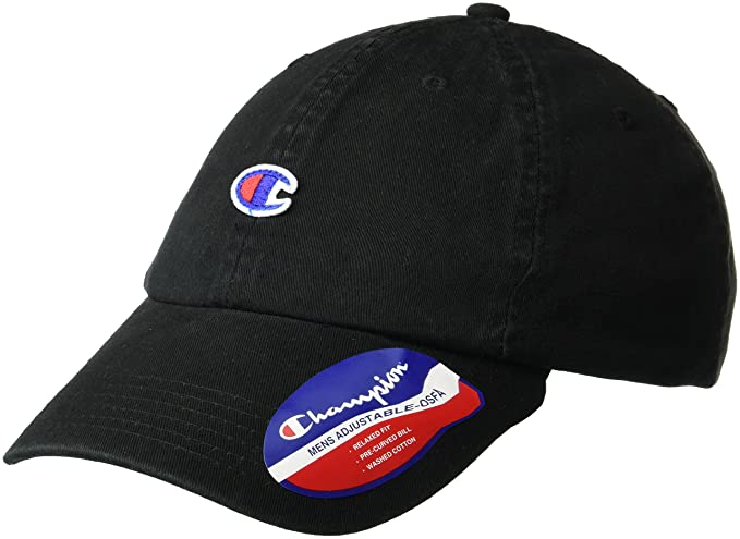 e4de331184c ... hat in black c2a78 97630  cheapest champion mens father dad adjustable  cap black os at amazon mens clothing store 60f16 5fdc2