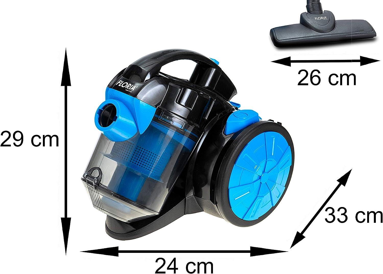 Aspiradora de suelo 700 W, filtro HEPA 13, cepillo 2 en 1, manguera de 360 °, aspiradora ciclónica, sin bolsa, aspiradora ciclónica, aspiradora sin bolsa: Amazon.es: Hogar