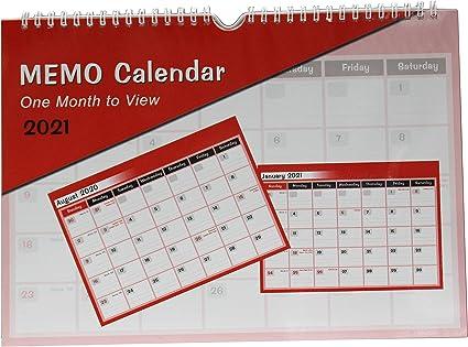 Monatskalender 2020 Monatsterminkalender A4 quer Spiralbindung weiß Wandkalender