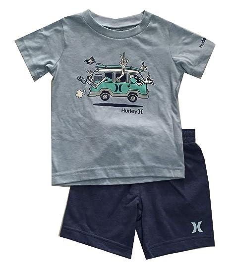 38df6d834 Amazon.com: Hurley Toddler Boys 2 Piece Shirt and Shorts Set Delft ...