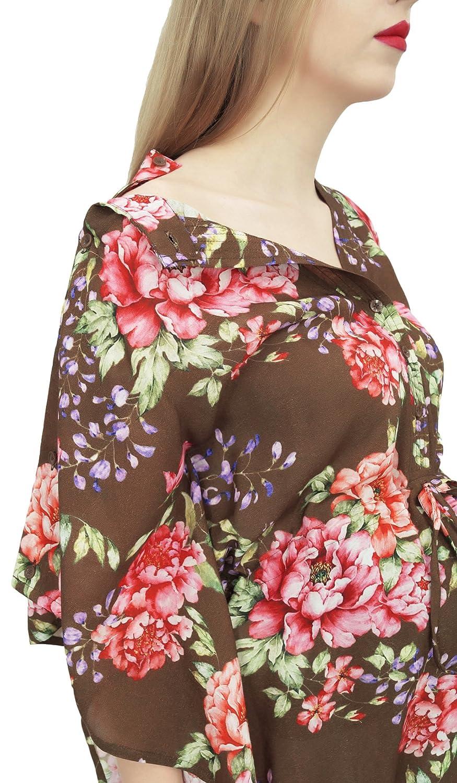 Bimba Vestido Maxi Kaftan de Maternidad Estampado con Cordon y Estampado Marron de la Mama DE -42: Amazon.es: Ropa y accesorios
