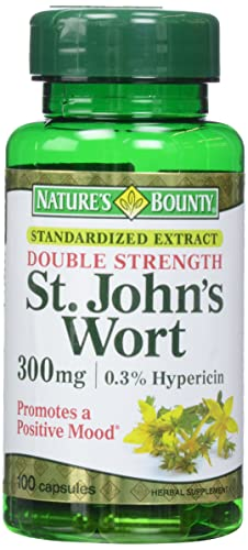 Nature's Bounty St. John's Wort Pills and Herbal Health Supplement