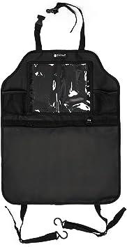Kidspoint Rückenlehnenschutz Autositzschoner Rückenlehne Für Kinder Mit Autositz Organizer Xxl Rücksitztaschen Mit Trittschutz Für Vordersitz Auto