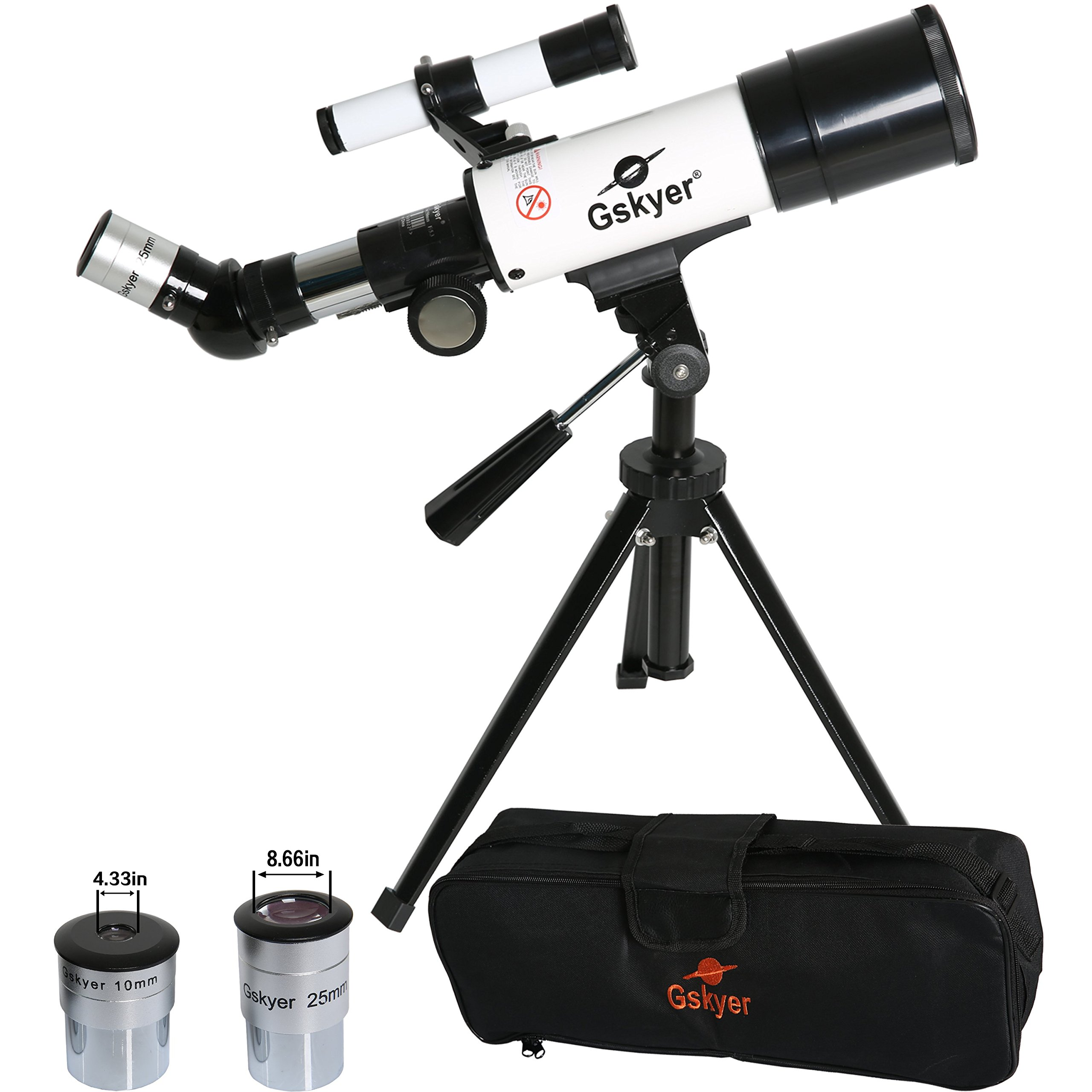 Gskyer Telescope, 60mm AZ Refractor Telescope, German Technology Travel Scope by Gskyer