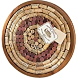 Wine Enthusiast 340 12 02 Round Wine Cork Board Kit, Light Brown