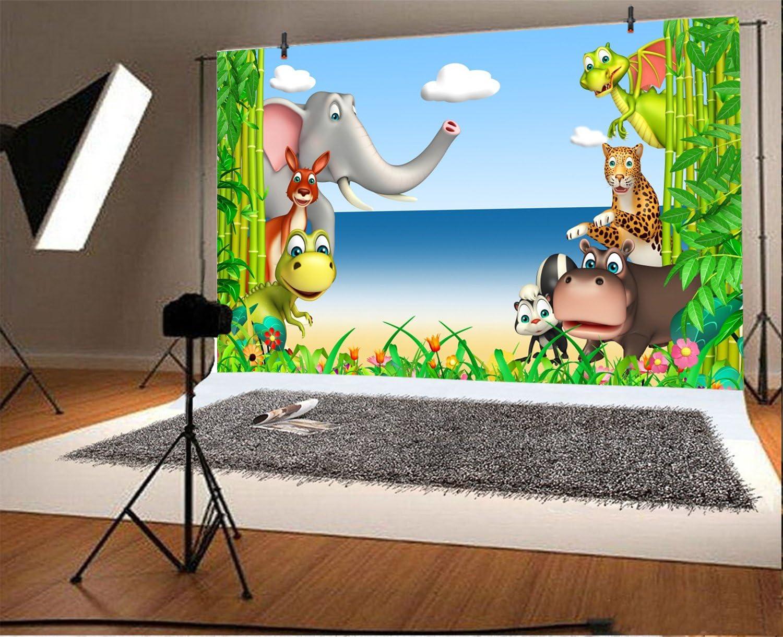 YEELE Safari Seaside Party Backdrop 10x7ft Kids Birthday Decoration Photography Background Adventure Theme Kids Acting Show Child Boys Son Artistic Portrait Photobooth Props Wallpaper