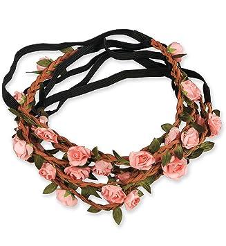 sumolux pcs tocados diademas corona accesorios adornos de flores de pelo para nia chica mujer