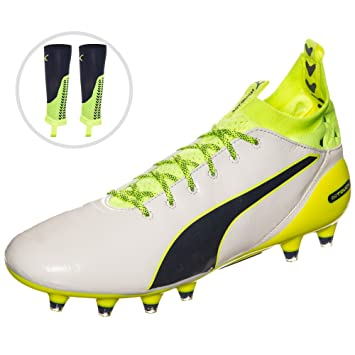 f7ed44c97 Puma Pro EVOTOUCH Special Edition FG Men's Football Boots, white/blue /  yellow,