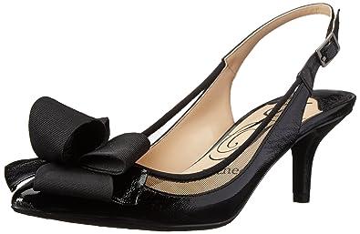 J.Renee Women's Garbi Dress Pump, Black/Black, ...