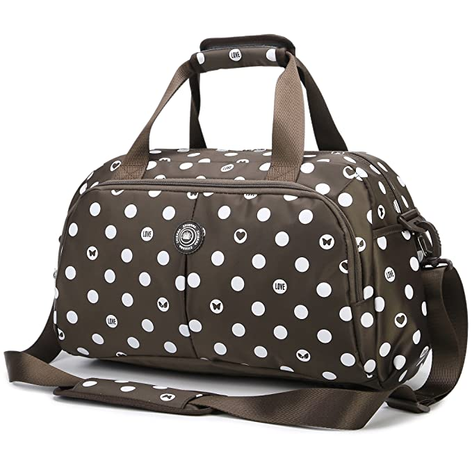 5 opinioni per AOKE Sleek Spots Travel Duffle Carry-On Weekender Borsa Flightall Tote Crossbody