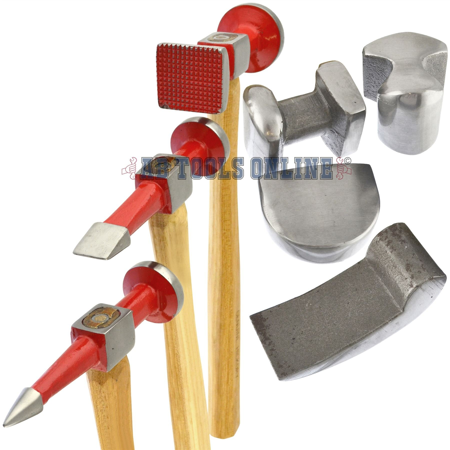 AB Tools-Neilsen Auto Body Repair Kit Panel Beating Hickory Hammers Dollies Shrinking 7pc AN021 by AB Tools-Neilsen (Image #4)