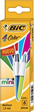 BIC 4 Color Mini 6 piezas.