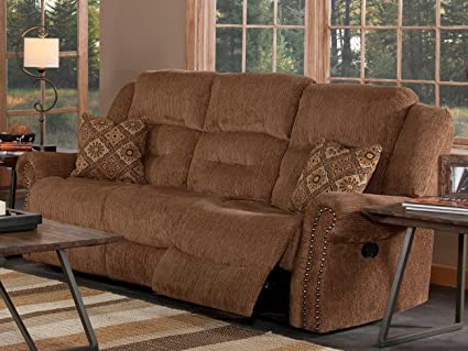 NCF Furniture Juniper Dual Motion Recliner Sofa In Dusty Brown