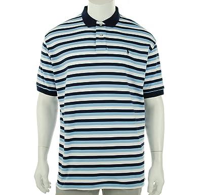 80e0df3a2 Polo Ralph Lauren Men's Classic Fit Interlock Stripe Polo, Navy/White, ...