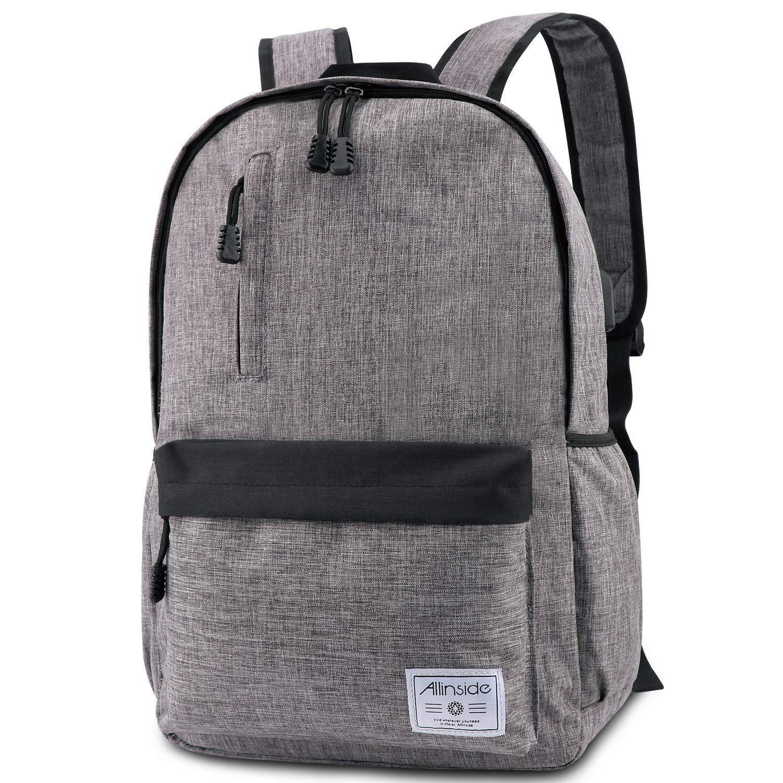 Allinside Laptop Backpack College School Bag with USB Charging Port